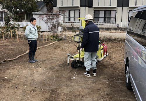 【愛知県小牧市】T様邸 地盤調査を行いました。