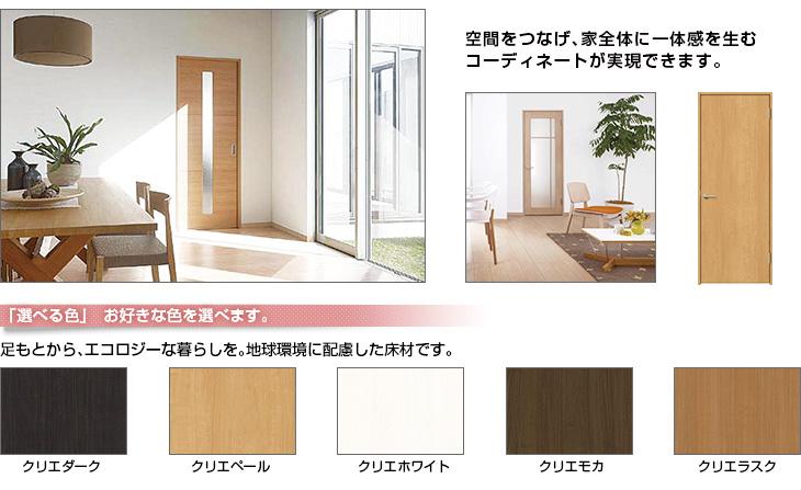 室内ドア・床材